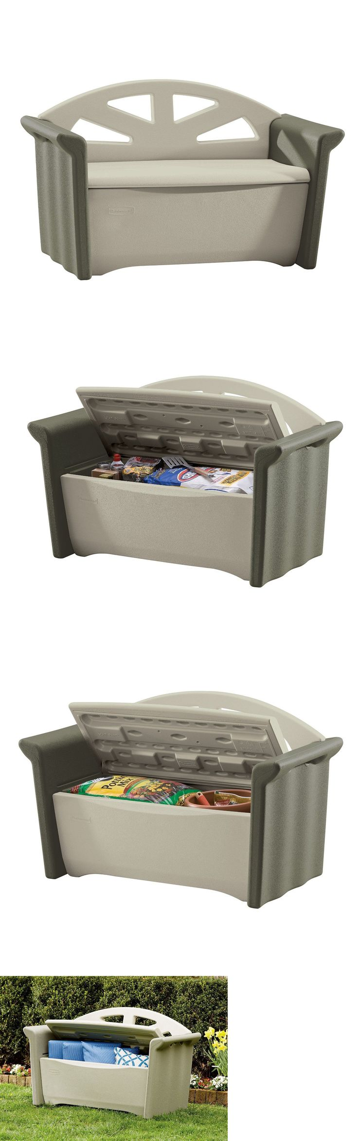 Other Patio and Garden Furniture 10035: Rubbermaid Xl Deck Box With Seat Patio Furniture Pool Bar B Que Storage -> BUY IT NOW ONLY: $139.9 on eBay!