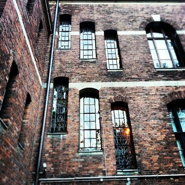Found on Starpin #architecture #industrial #detail #brick #decoration #windows #stainedglass #reflection #library #university #old #poznan #Poznań #stacjapoznanglowny