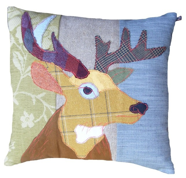 Stag cushion by Carola van Dyke - Folksy