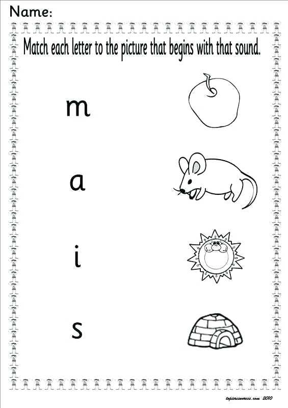Sen Phonics Letters And Sounds Resources 1 A 1 Worksheets