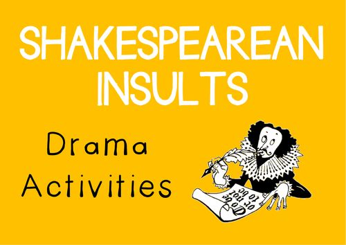 SHAKESPEAREAN INSULTS Drama Cards and Activities