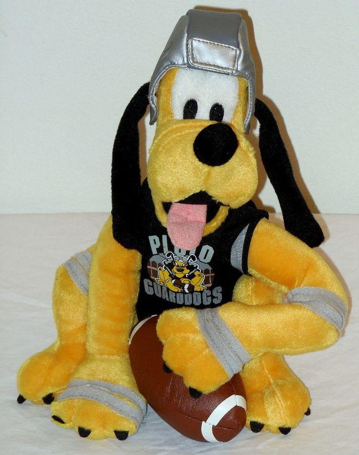 Disney Football Pluto Bean Bag New Stuffed Toy Dog Disneyland Exclusive Disney Shop