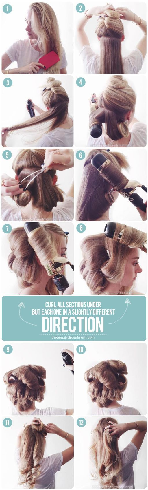 tutorial for faking a pro blowout and getting big, soft, classic waves. #hair #blowout #beauty