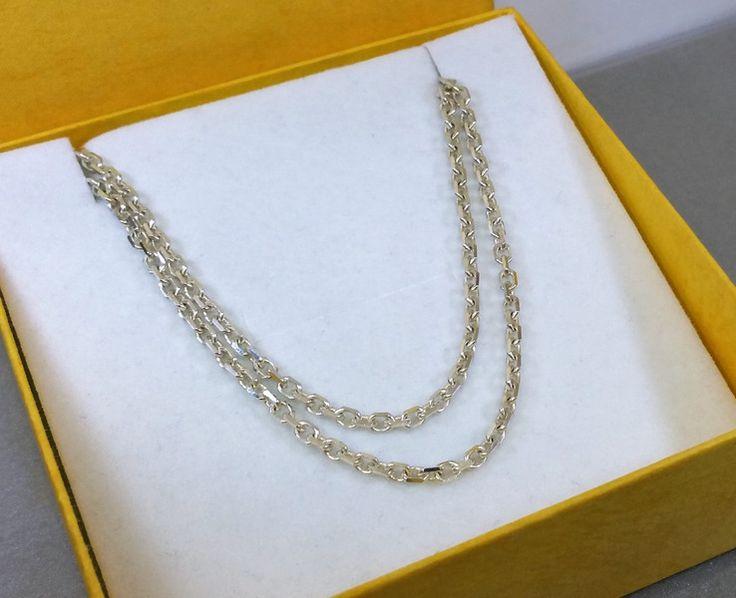 Vintage Halsschmuck - 49,5 cm/2,7 mm 925er Ankerkette Silberkette HK157 - ein Designerstück von Atelier-Regina bei DaWanda
