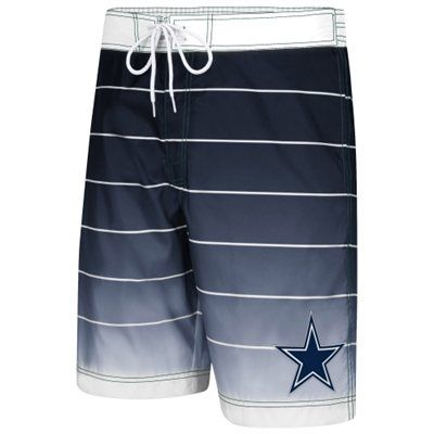 Gearing up for the beach also means not forgetting your navy blue and white boardshorts. A must have for all Dallas Cowboys fans who love the ocean as much as they love their team.