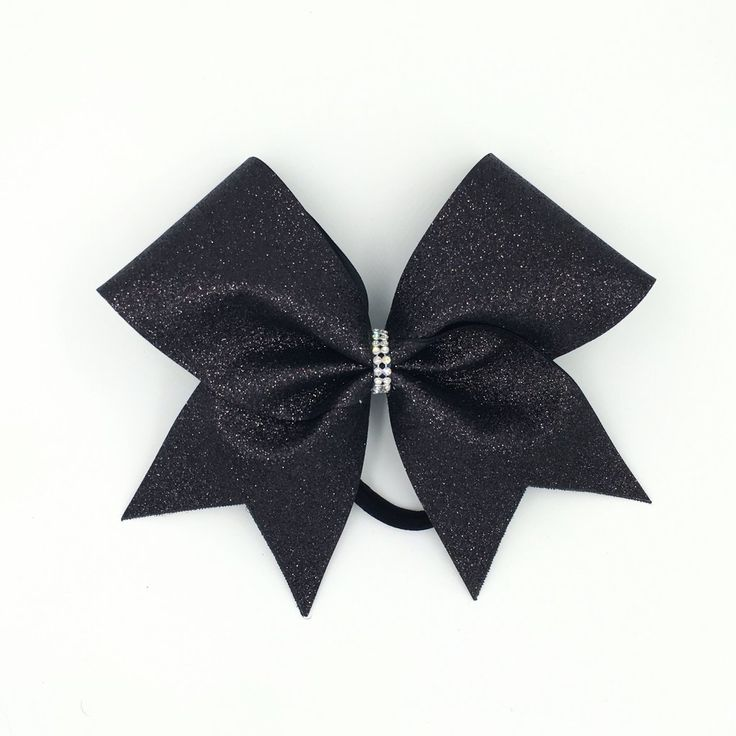 Black Glitter Cheer Bow Bling Bow Love is committed to creating high quality cheer style bows. We can help with individual and team orders for practice, sideline or competition all at an affordable pr