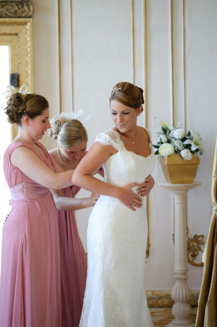 Suzanne Neville Lucia dress, True Bridesmaid M997 dresses in dusky pink- my gorgeous Essex country manor wedding (champagne gold, ivory and dusky pink colour scheme)