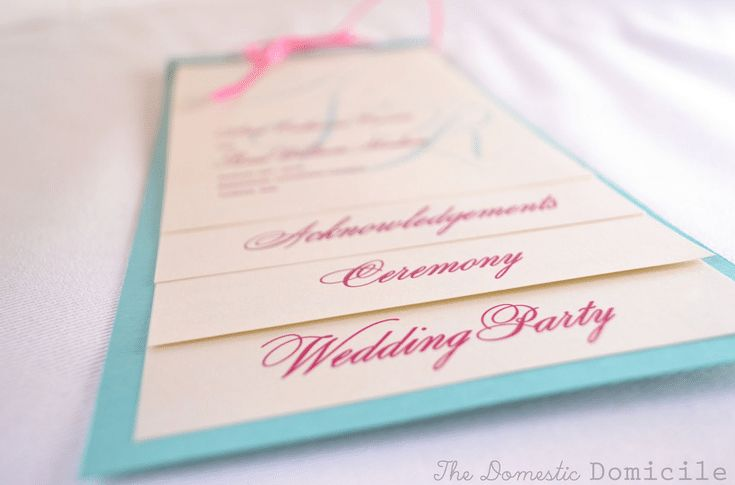 Create a Wedding Program With These Stylish Free Templates: The Domestic Domicile's Free Wedding Program Template