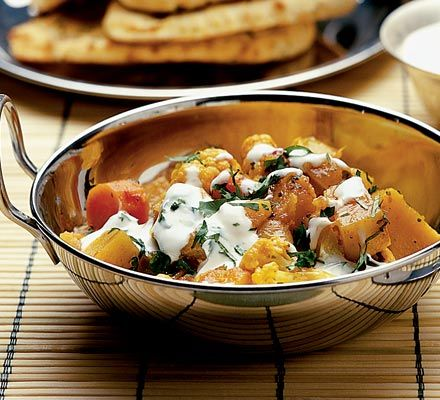 Curry doesn't tend to be the healthiest meal option, but this winter veg balti is high in fibre and vitamins, while low in fat