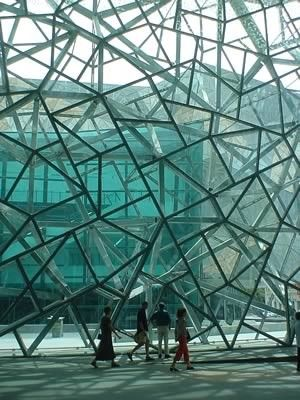 federation square in melbourne, australia http://www.travelmagma.com/australia/things-to-do-in-melbourne#.VSUOv2PI-1E