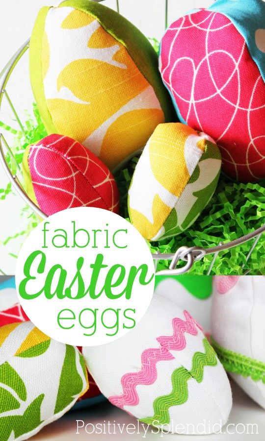 Fabric Easter Egg Pattern - So cute, and easy to make, too!Eggs Free, Egg Crafts, Eggs Pattern, Splendid Crafts, Easter Crafts, Crafts Pattern, Easter Eggs, Fabrics Easter, Eggs Crafts