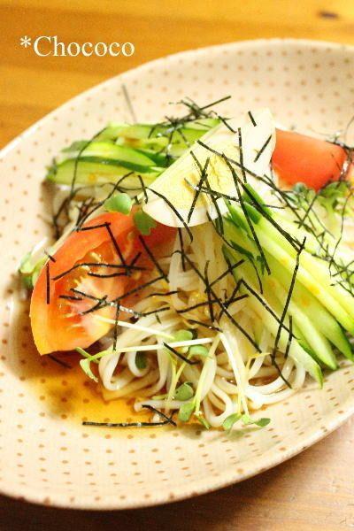 ピリ辛サラダひやむぎ レシピ by chococoさん | レシピブログ - 料理 ...