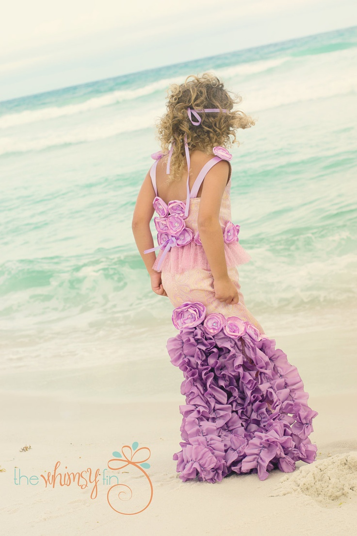 introductory sale-TRITON'S TREASURE MERMAID Costume-Dress Up, Portraits, Birthday, Pageant, Halloween-Little Girls (sizes 2-8). $130.00, via Etsy.