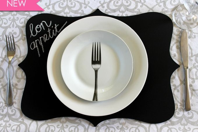 French shaped chalkboard placemats - R80 for two! by D&M made with love Pty Ltd