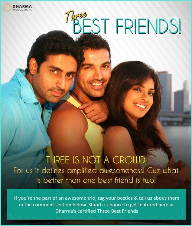 Three Best Friends- Sam, Kunal & Neha