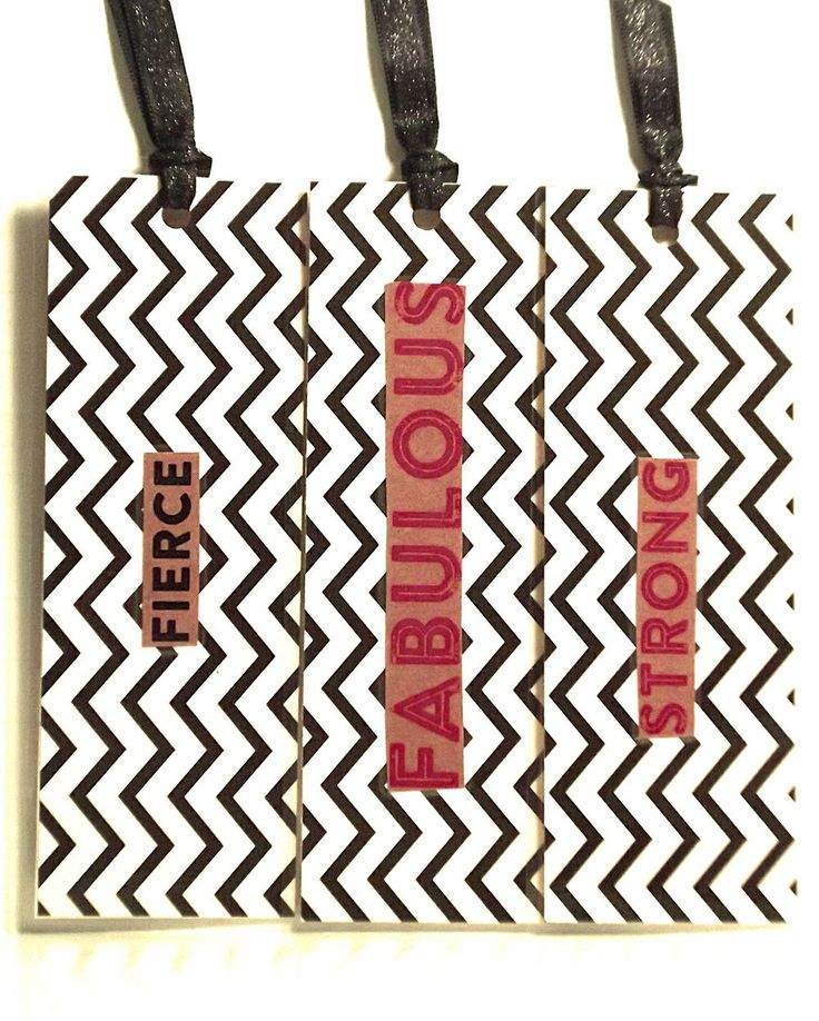 Fierce, Fabulous & Strong-Set of 3 Descriptive Large Bookmarks to Provide Strength and Encouragement.