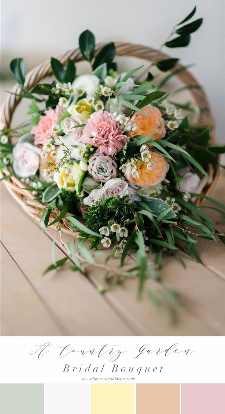 A Country Garden Inspired Spring Bridal Bouquet Recipe