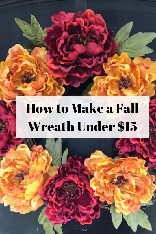 Easy Fall Wreath for Under $15