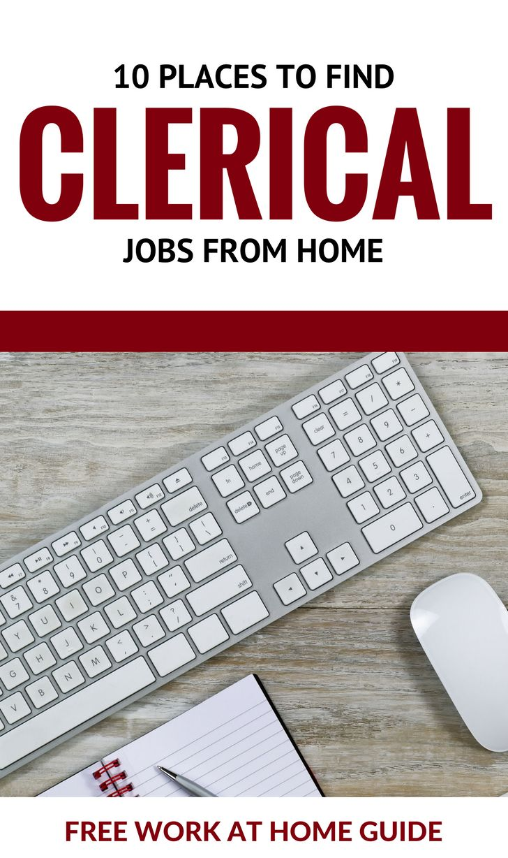 10 Places To Find Clerical Jobs from Home| Free Work at Home Guide