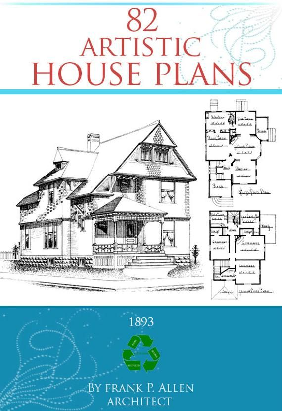 82 Artistic House Plans Rare 1893 Architectural Designs Views Etsy In 2020 House Plans House Floor Plans How To Plan