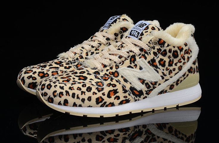 Fashion New Balance 996 High Top Leopard Wool For Winter Women shoes