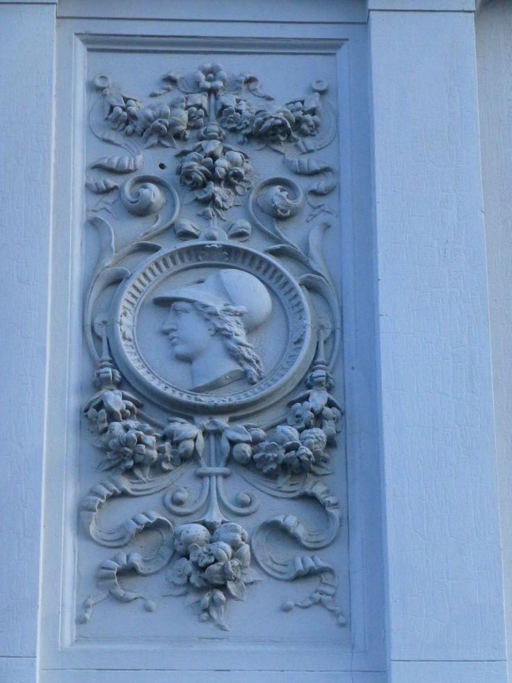 Medaljon med Athene på facaden til Søndergade 5