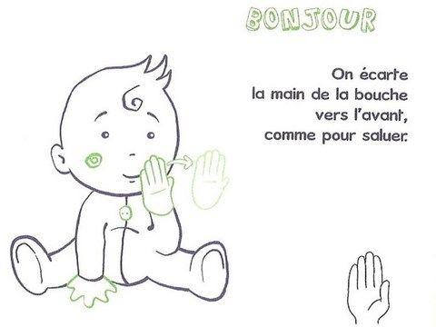 Assez 58 best Langue des signes bébé images on Pinterest | Communication  RF14