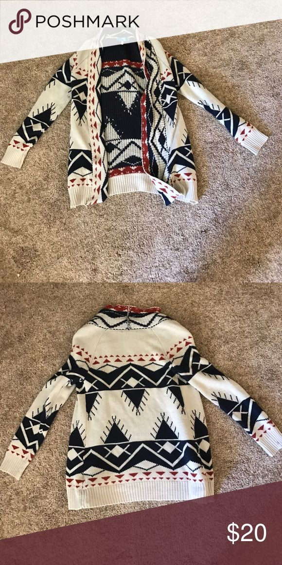 Tribal cardigan Very good condition! Selling because I never wear, very comfortable! Francesca's Collections Sweaters Cardigans