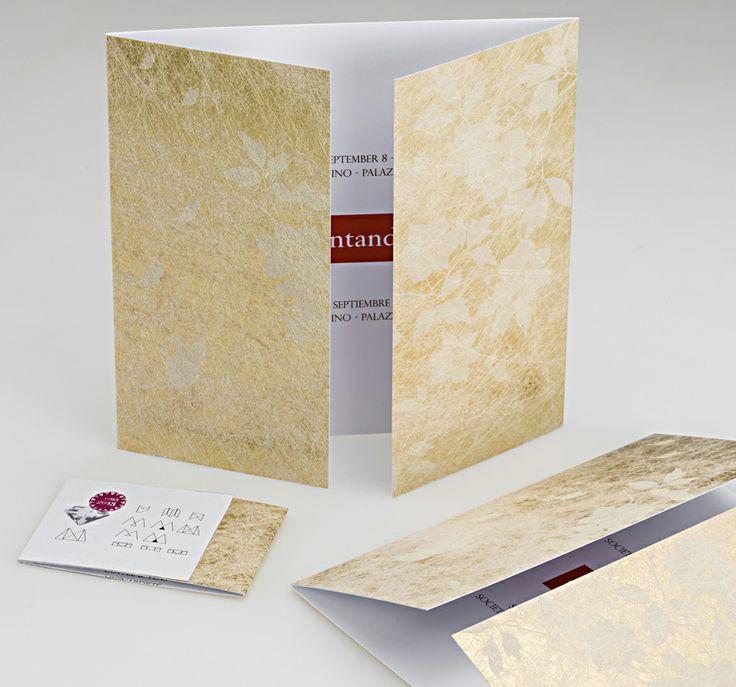 #Twist #Favini #Folding Galà Dinner Banca Internazionale / Design: mm-design http://www.mm-design.it - Find more on #Twist http://www.favini.com/gs/en/fine-papers/twist/features-applications/