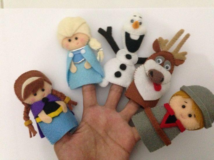Frozen felt finger puppets Más