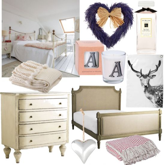 Our Louis oak bed in @housetohomeuk's calming white bedroom scheme