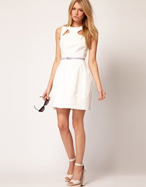 Enlarge Oasis Lantern Dress - White dress.. Perfect @Shannon Michelle $66.42