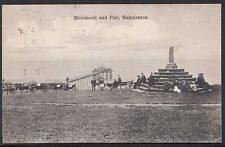 Norfolk Postcard - Monument and Pier, Hunstanton    A7470