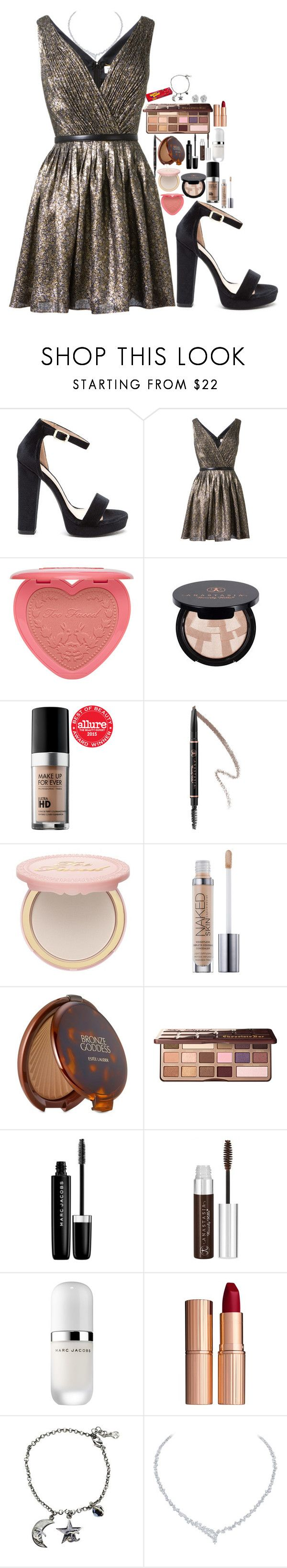 """""""Sin título #821"""" by hpf1102 ❤ liked on Polyvore featuring Yves Saint Laurent, Anastasia Beverly Hills, MAKE UP FOR EVER, Too Faced Cosmetics, Estée Lauder, Marc Jacobs, Charlotte Tilbury, Chanel and Harry Winston"""
