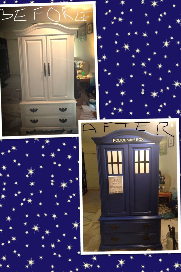 DIY Armoire Turned TARDIS!