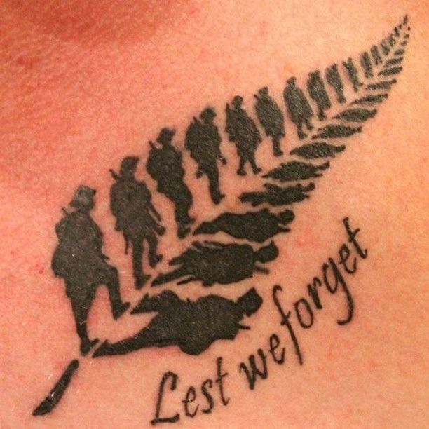 Lest We Forget Tattoo