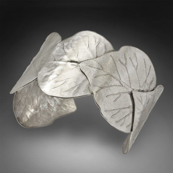 Love this sterling leaf cuff! Cincinnati Spring by babejewelryuniqueasu on Etsy