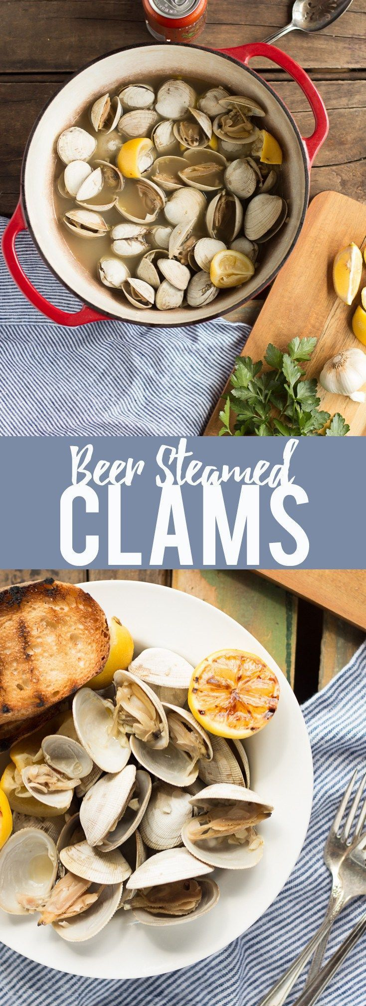 Learn how to make this simple recipe for Beer Steamed Clams - so easy you can even make them on the campfire!