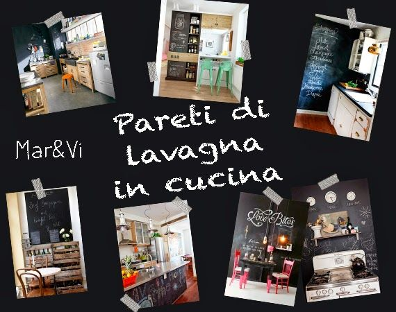 Mar&Vi Creative Studio - Italia: Arredare low cost: pareti di lavagna in cucina