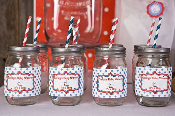 Sailboat Baby Shower Decorations  12 Water by getthepartystarted, $9.00