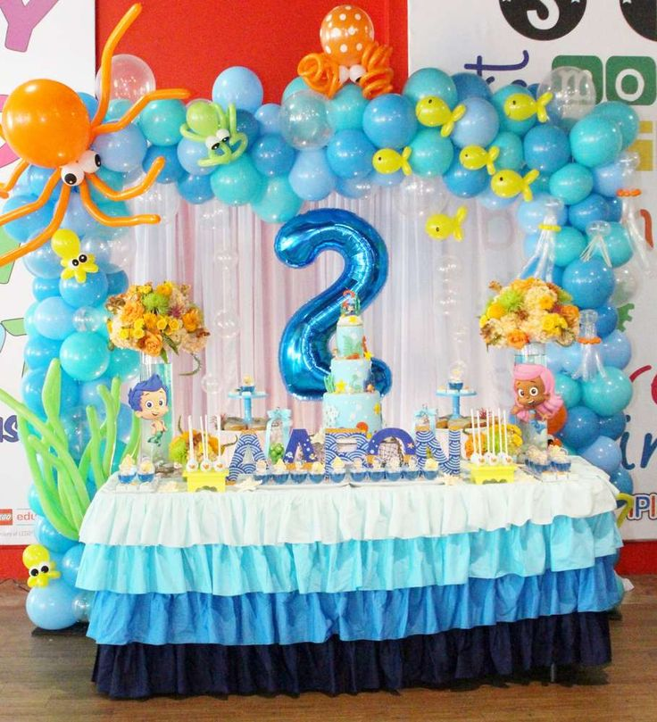 Best 25 bubble guppies party ideas on pinterest bubble for Baby birthday decoration ideas