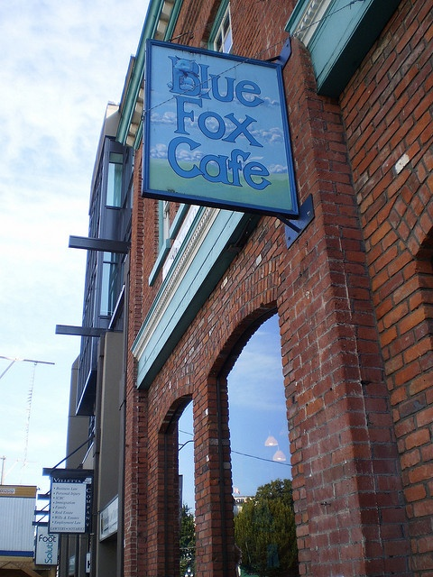 The Blue Fox Cafe in Victoria!