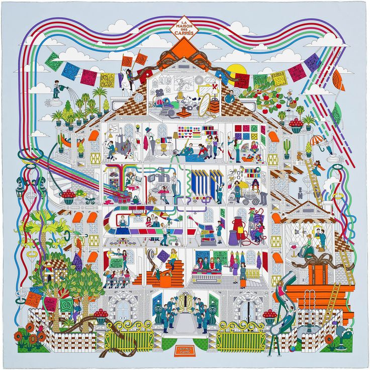 "2015 S/S | La Maison des Carres | Hermes silk twill scarf, hand rolled, 36"" x 36"" 