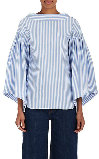 We Adore: The Smocked-Shoulder Cotton Blouse from Teija at Barneys New York