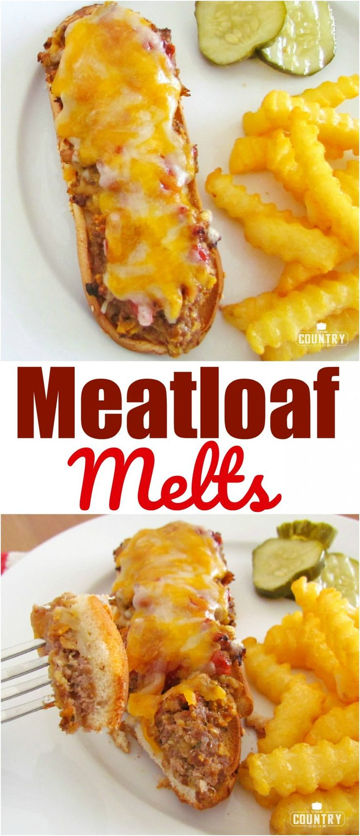 Meatloaf Melts recipe from The Country Cook #groundbeef #sandwich #cheese #dinner #ideas
