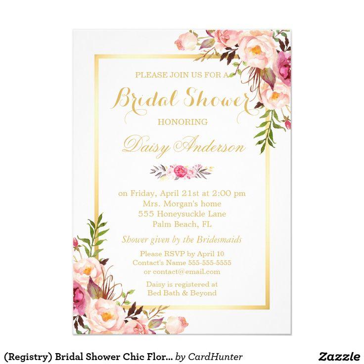 248 best Floral Wedding Invitations images on Pinterest | Lyrics ...
