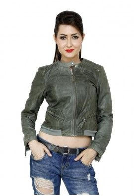 HAND POLISHED WAXED JACKET FOR WOMEN (GREEN)