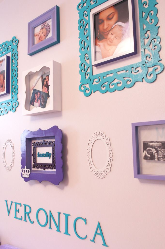 Project Nursery - Purple and Teal Nursery Gallery Wall