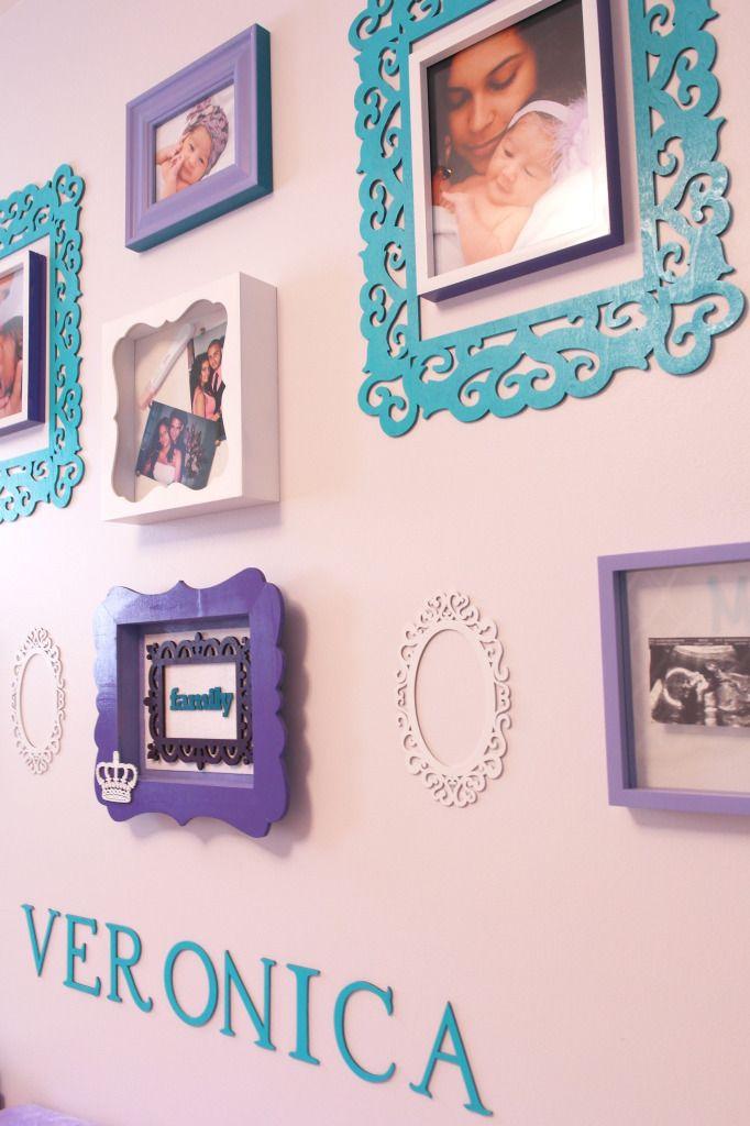 Project Nursery - Purple and Teal Nursery Gallery Wall