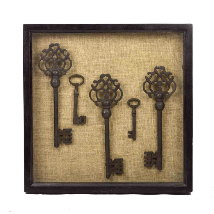 Vintage key shadow box | DE-COR | Globally Inspired